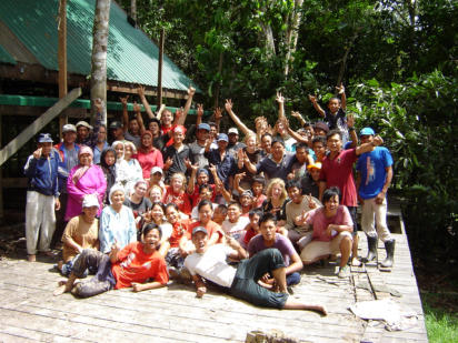 MESCOT Group and local community pair up with international volunteers to build the Tungog Rainforest Eco Camp